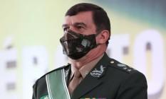 O comandante do Exército, Paulo Sérgio Nogueira, durante cerimônia de passagem de cargo Foto: Marcos Corrêa/Presidência/20-04-2021