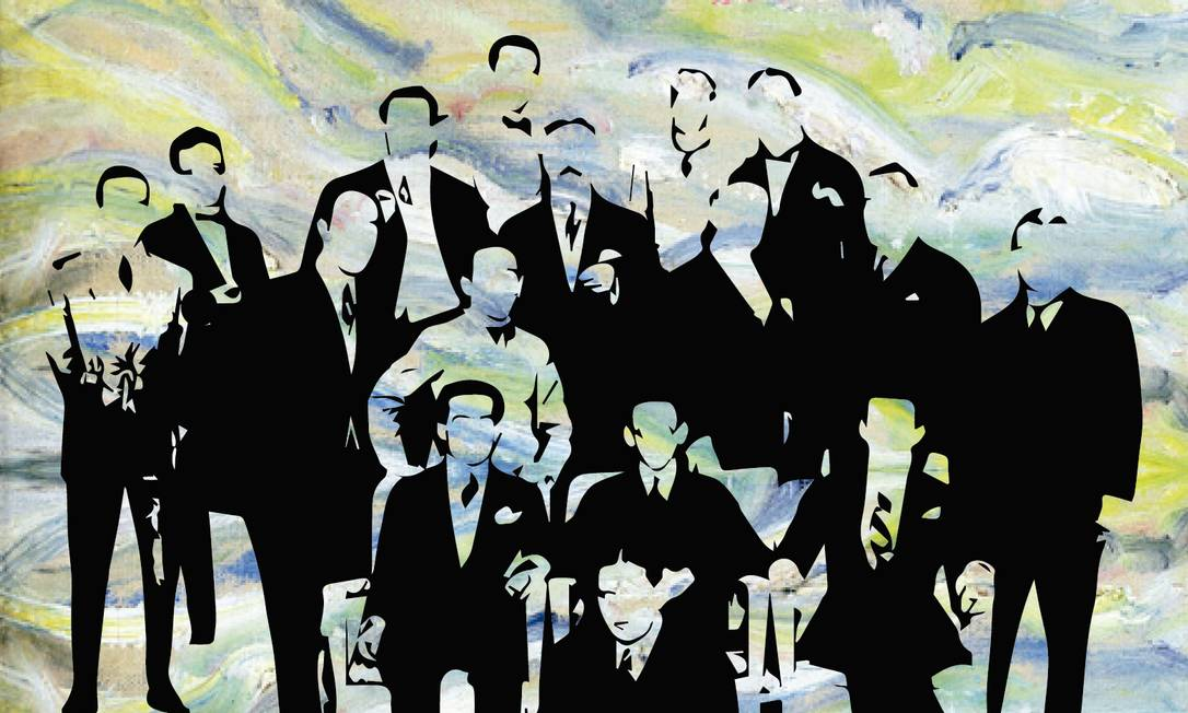 Pesquisadores fazem balanço crítico da Semana de Arte Moderna de 1922, evento, que reuniu escritores, pintores e músicos, em São Paulo Foto: Arte de Telio Navega sobre foto / Editora de Arte O GLOBO
