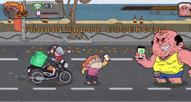 O jogo de luta brasileiro para detonar quem anda sem máscara - Época