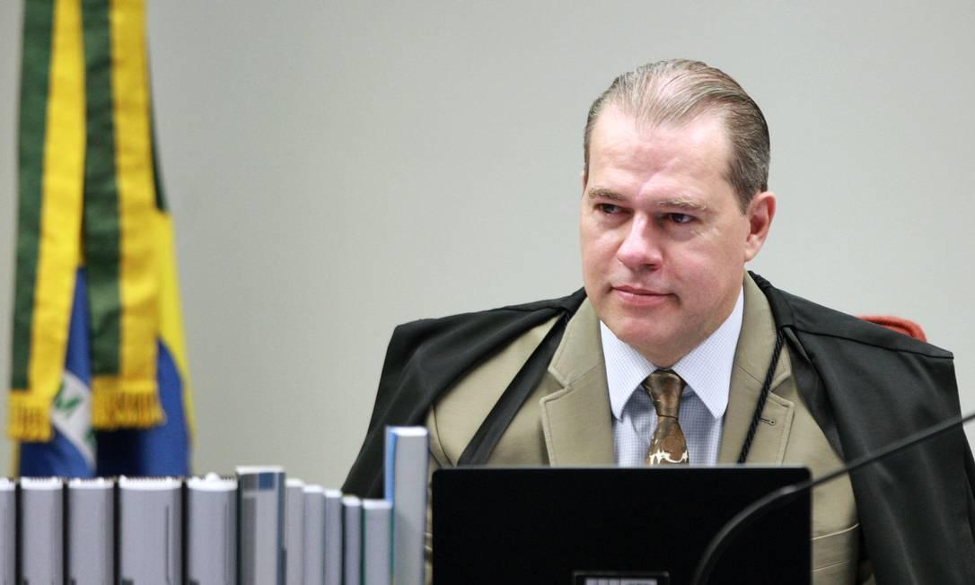 Ministro Dias Toffoli preside sessão da 1ª turma por videoconferência Foto: Nelson Jr./SCO/STF