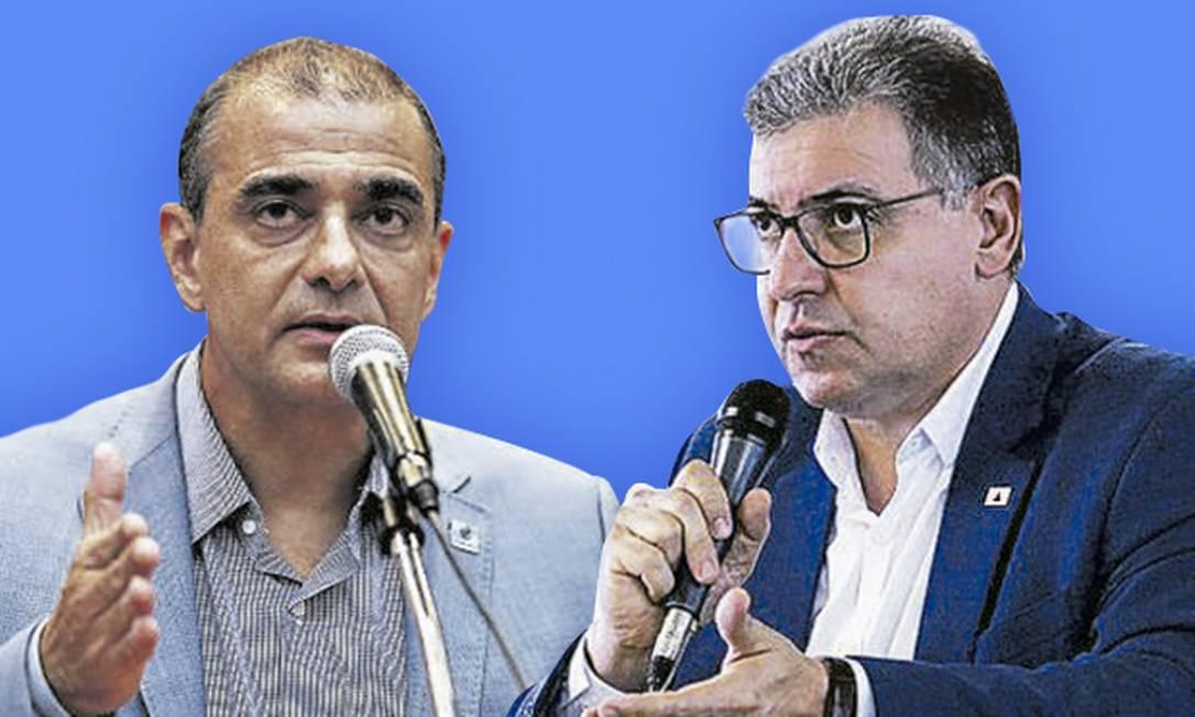 O ex-secretário de Saúde do Rio Edmar Santos (à esquerda) e Carlos Eduardo Amaral (à direita), que deixou a titularidade da pasta em Minas Foto: Editoria de arte