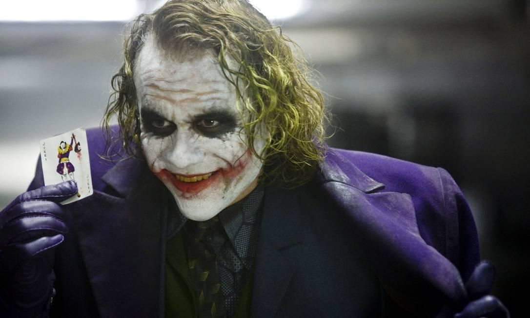 """Cena do filme """"Batman - O cavaleiro das trevas"""", com o ator Heath Ledger. Foto: Divulgação"""
