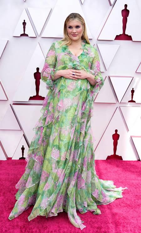 A atriz e diretora Emerald Fennell, de 'Bela vingança' usa Gucci Foto: Chris Pizzello/Pool via REUTERS / REUTERS