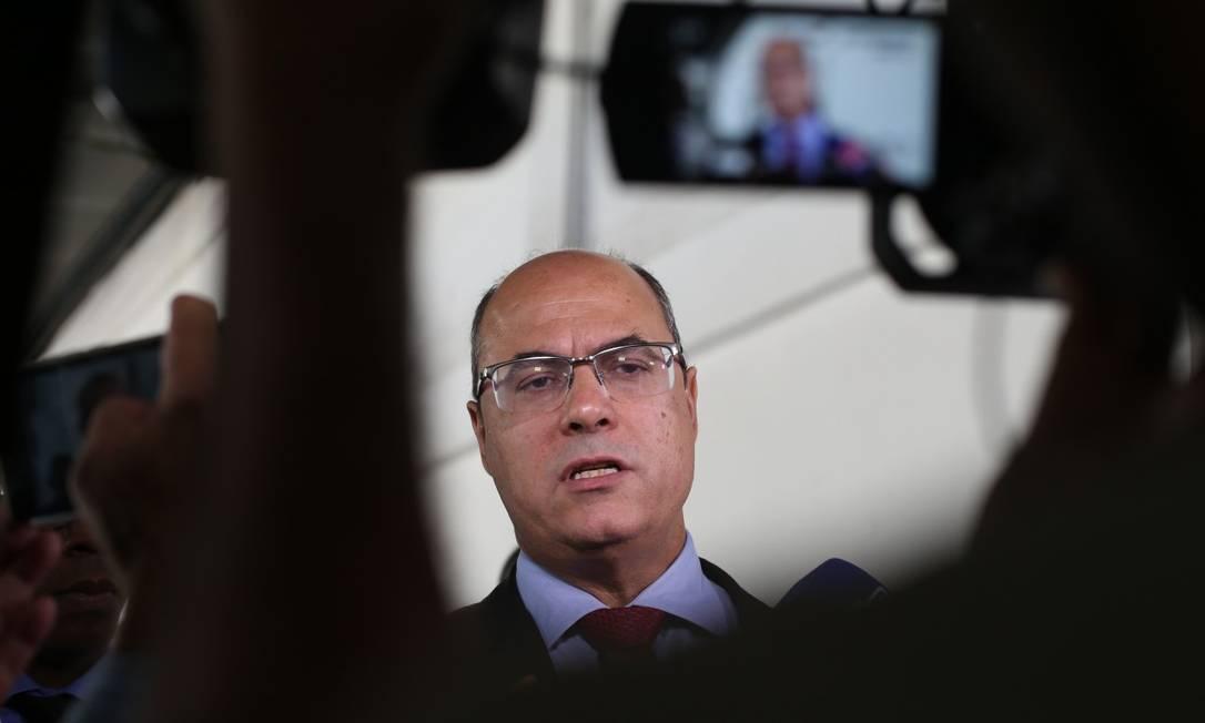 Witzel pode ser afastado definitivamente do cargo de governador esta semana Foto: Pedro Teixeira em 22-5-2019 / Agência O Globo