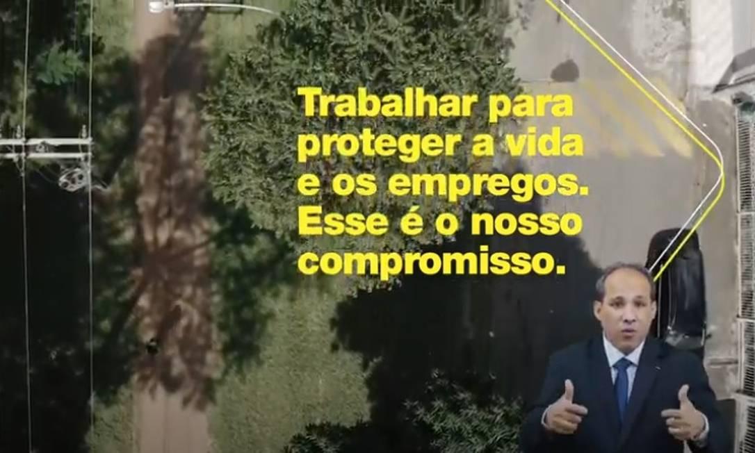 Trecho de propaganda elaborada pela Secom sobre ações do governo durante a pandemia Foto: Reprodução/Youtube