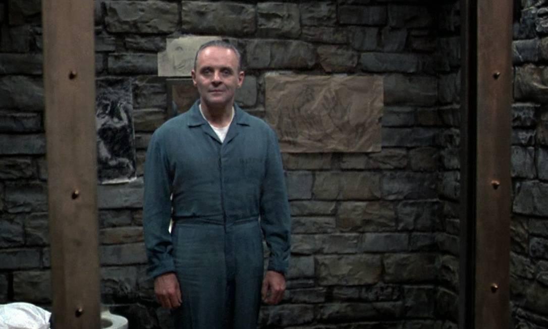 Anthony Hopkins no papel de Hannibal Lecter, em 'O silêncio dos inocentes', que lhe rendeu um Oscar. Foto: Divulgação
