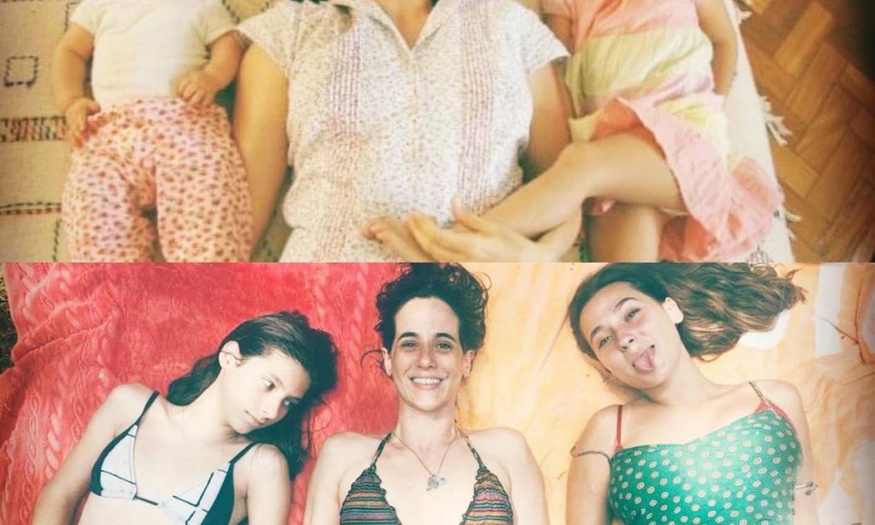 Mariana Lima e as filhas