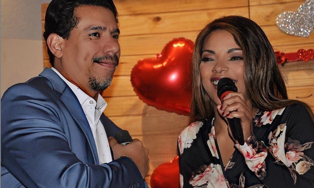 Flordelis e Anderson em evento da igreja no Dia dos namorados Foto: Reprodução