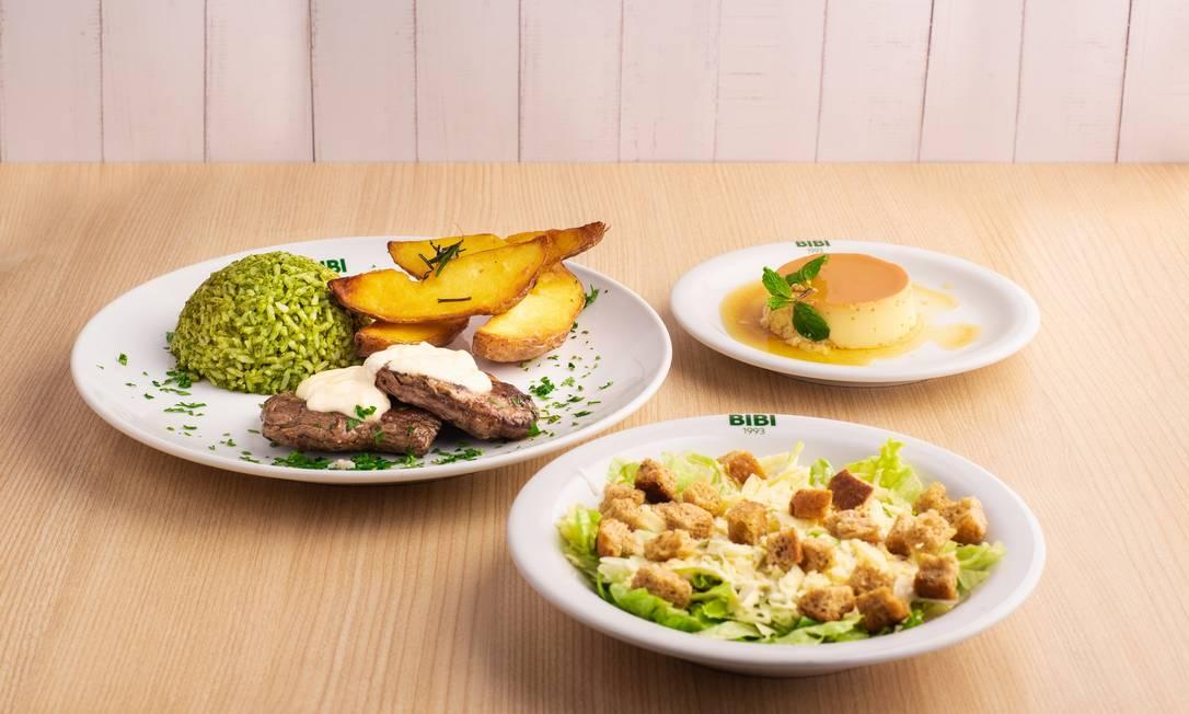 No Shopping Tijuca, Bibi tem prato principal de filé mignon com acompanhamentos Foto: Nelson Saldanha / Divulgação/Nelson Saldanha
