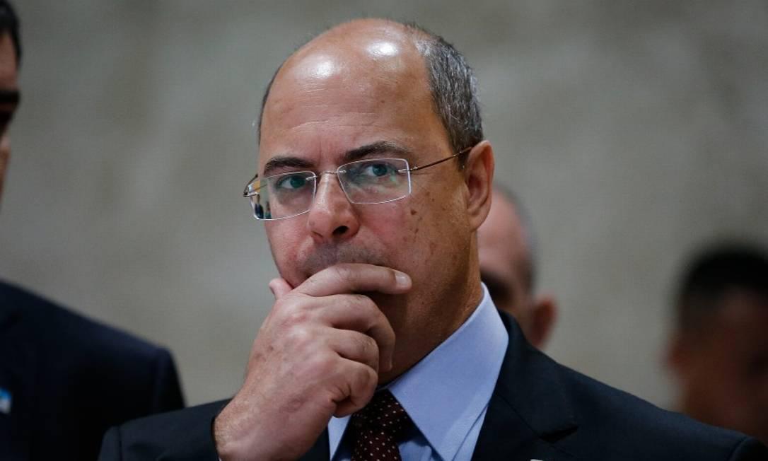 Witzel saberá na próxima sexta-feira se será afastado definitivamente do cargo ou não Foto: Pablo Jacob em 1-11-2019 / Agência O Globo