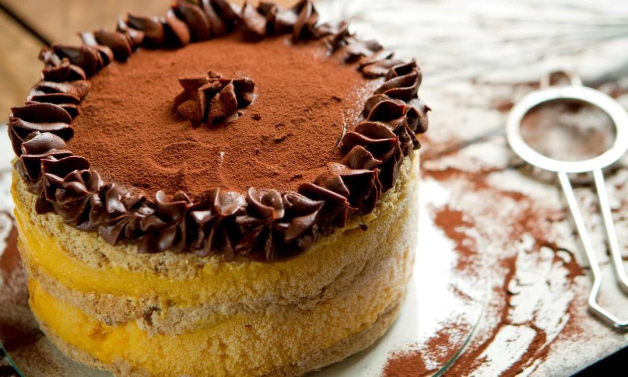 MP Tortas Boutique sugere torta diet sorbet de manga com chocolate (à base de sorvete). Custa R$ 120 entrega em todo o Rio, mediante taxa de entrega. Encomendas 999227825 Foto: Divulgação/Fernando Frazão