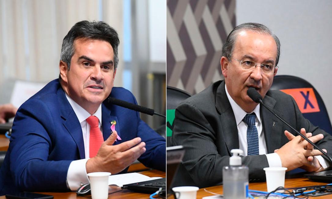 Os senadores Ciro Nogueira (PP-PI), à esq. e Jorginho Mello (PL-SC) Foto: Agência Senado