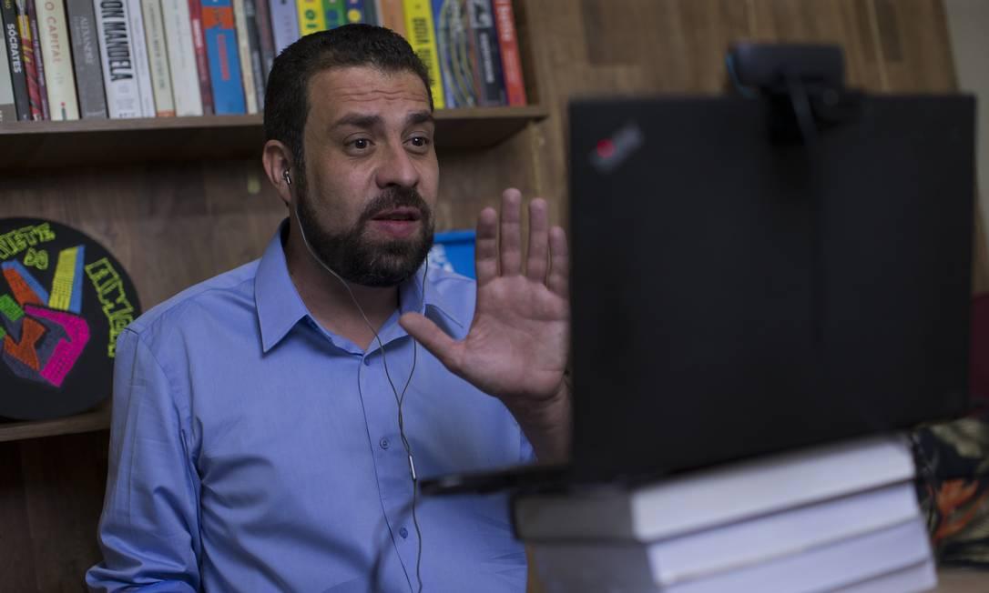 O líder do MTST Guilherme Boulos (PSOL) 25/11/2020 Foto: Edilson Dantas / Agência O Globo