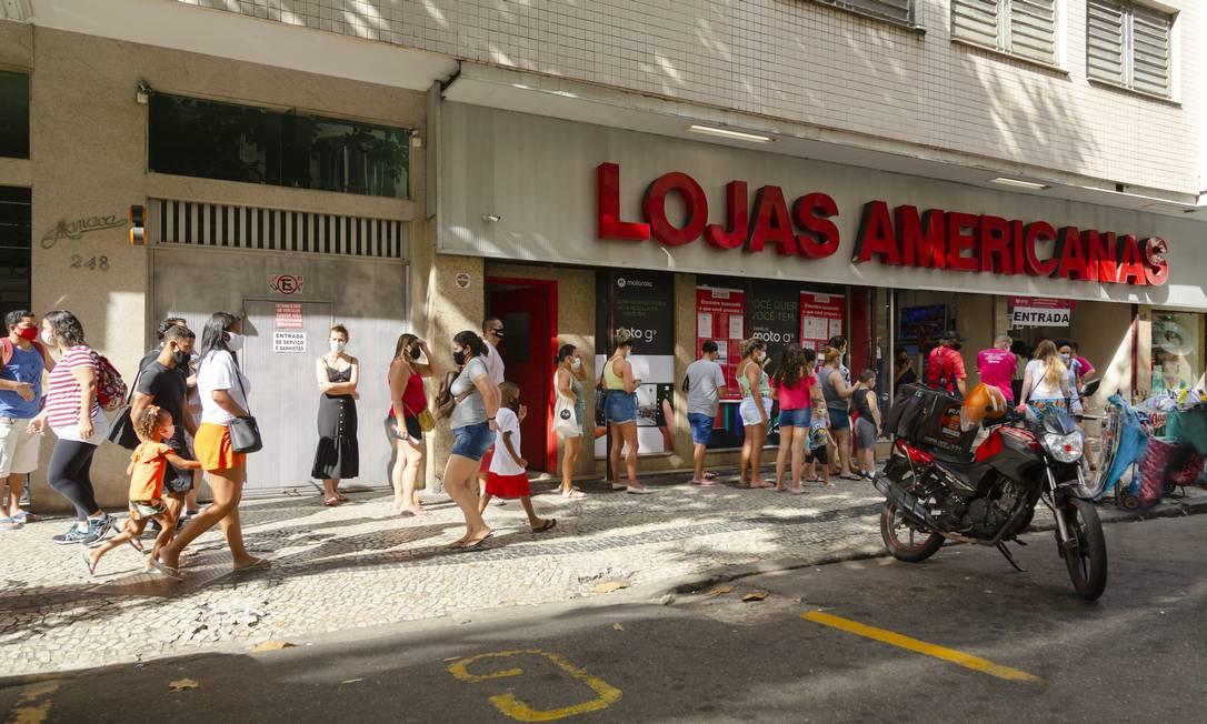 Loja da rede Americanas em Copacabana, na Zona Sul do Rio Foto: Leo Martins / Agência O Globo/3-4-2021