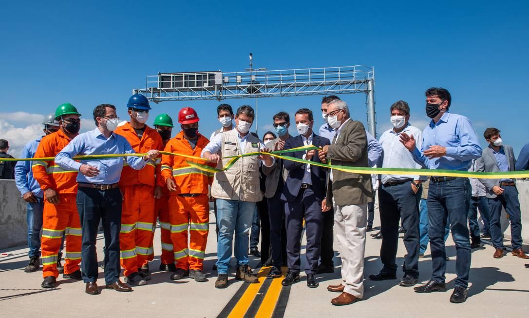 Inauguração da Avenida Portuária, nesta quarta-feira (28) Foto: Foto: Divulgação / Ecoponte