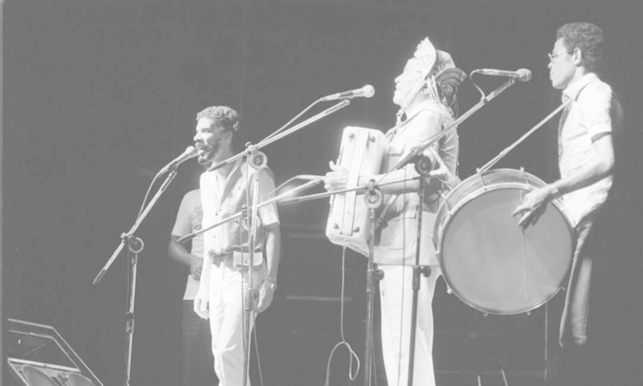 Em janeiro de 1983, show de Gonzagão e Gonzaguinha no Festival de Verão do Grande Rio, na Lagoa Foto: Athayde dos Santos