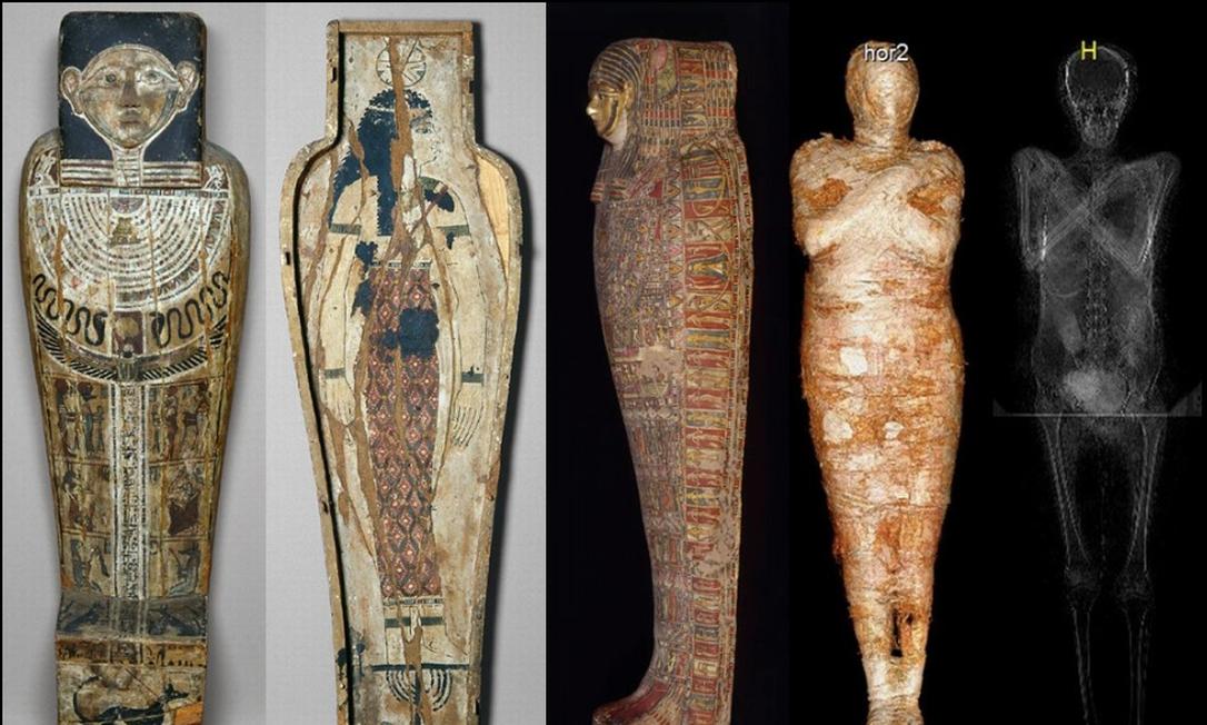 Pesquisadores da Polônia descobrem primeira múmia egípcia de mulher grávida Foto: Divulgação / Warsaw Mummy Project