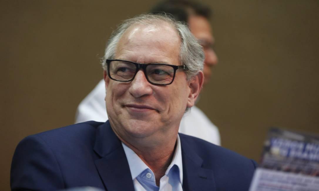 O ex-ministro e pré-candidato à Presidência pelo PDT, Ciro Gomes 19/09/2018 Foto: Marcos Alves / Agência O Globo