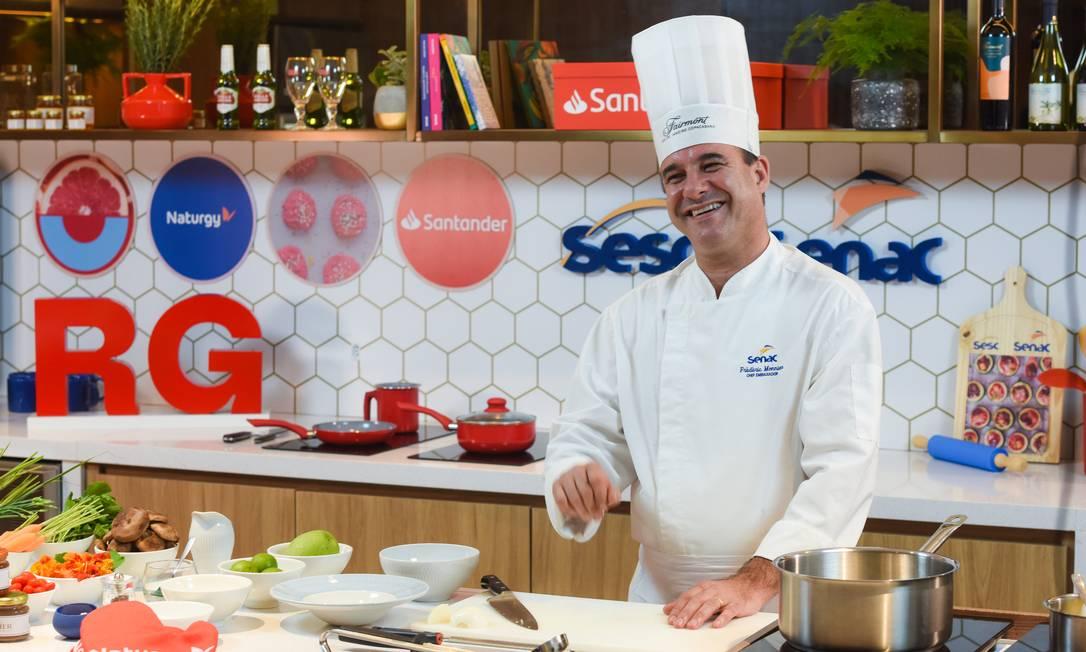 Aula Rio Gastronomia: com o chef Frédéric Monnier Foto: Alex Ferro