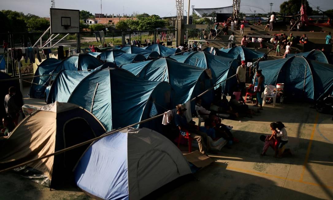 Refugiados venezuelanos abrigados em Arauquita, na Colombia Foto: LUISA GONZALEZ / REUTERS