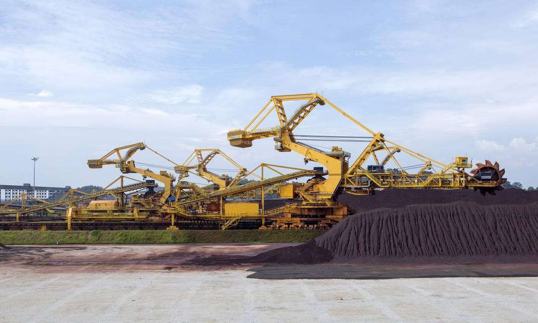 Terminal da Vale na Malásia: escolha do novo conselho acontece num momento positivo para a mineradora, com alta do preço do minério favorecendo exportação Foto: Charles Pertwee/Bloomberg / Novembro de 2014