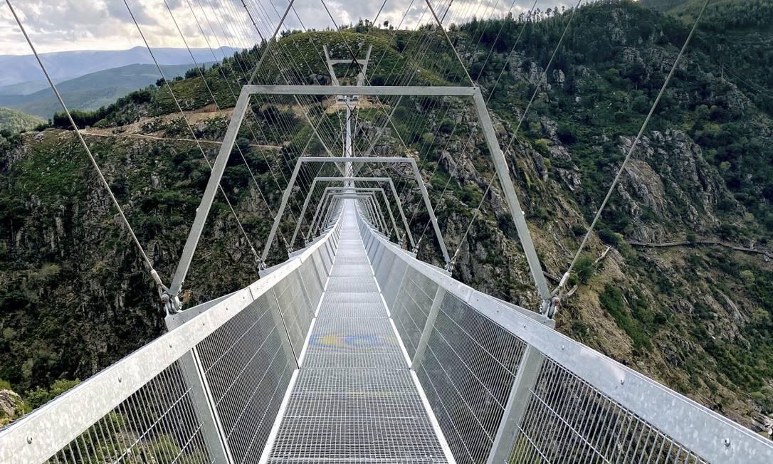 Ponte 516 Arouca fica 176 metros acima do Rio Paiva, em Arouca, Portugal Foto: Divulgação