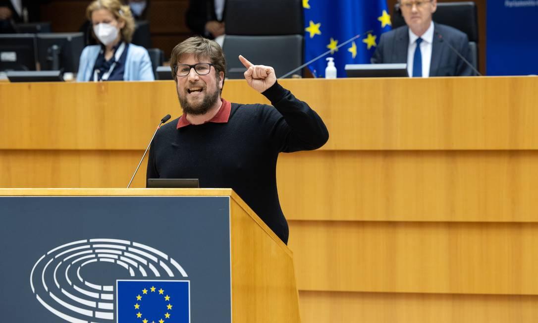 O eurodeputado Miguel Urbán, que faz parte das comissões de direitos humanos e do Mercosul do Parlamento Europeu Foto: Jan VAN DE VEL / Divulgação