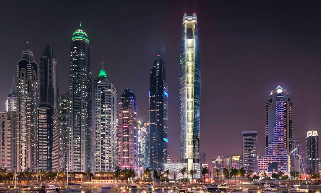 O Torre Ciel será o hotel mais alto do mundo Foto: Divulgação