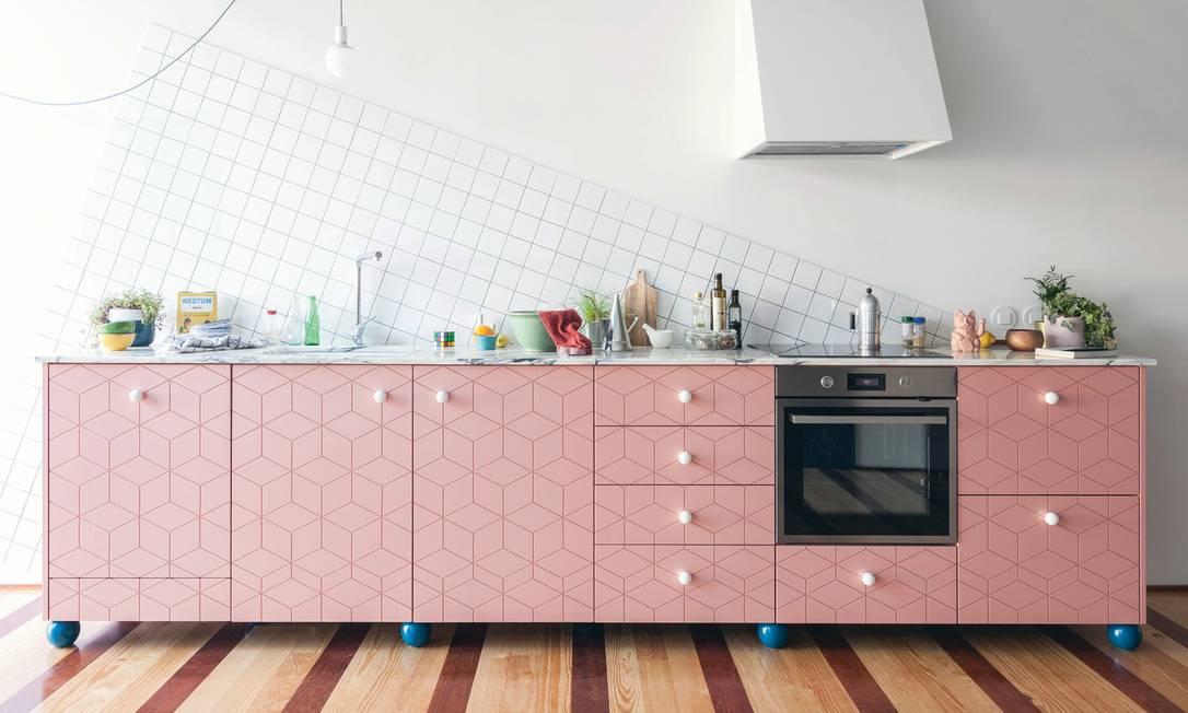 Cozinha Rosa Foto: Divulgação