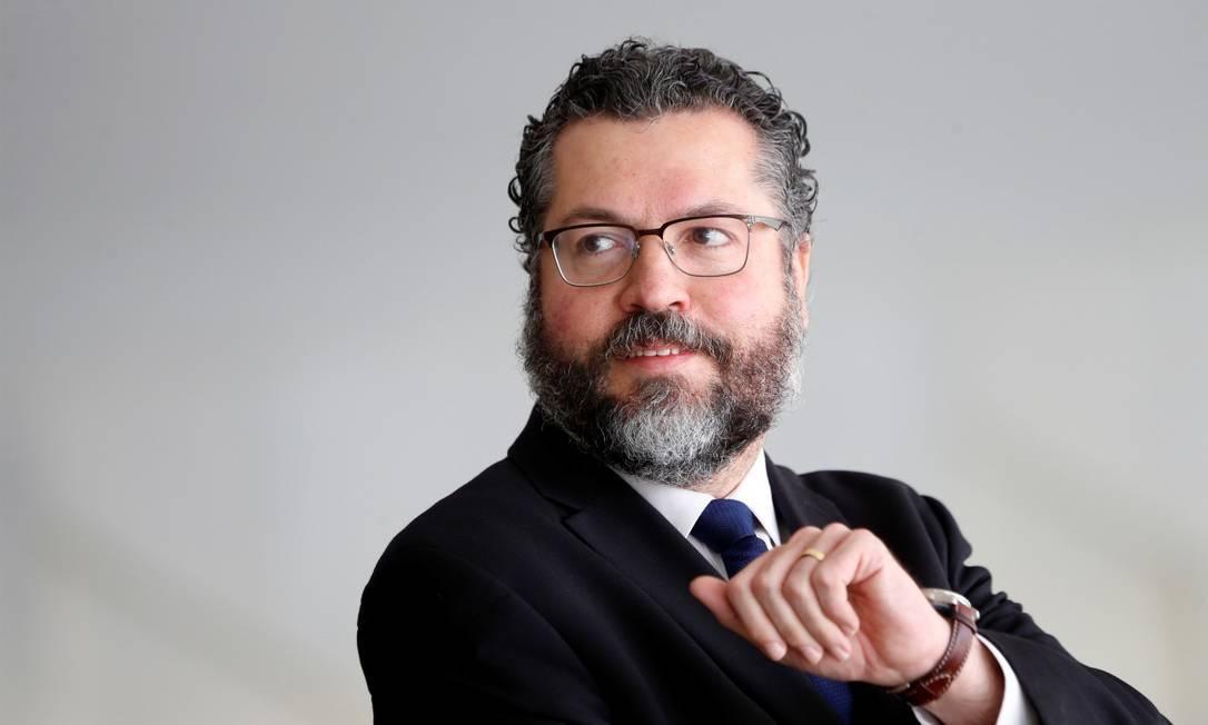 O ex-ministro das Relações Exteriores Ernesto Araújo Foto: Adriano Machado / Reuters / 29-04-19