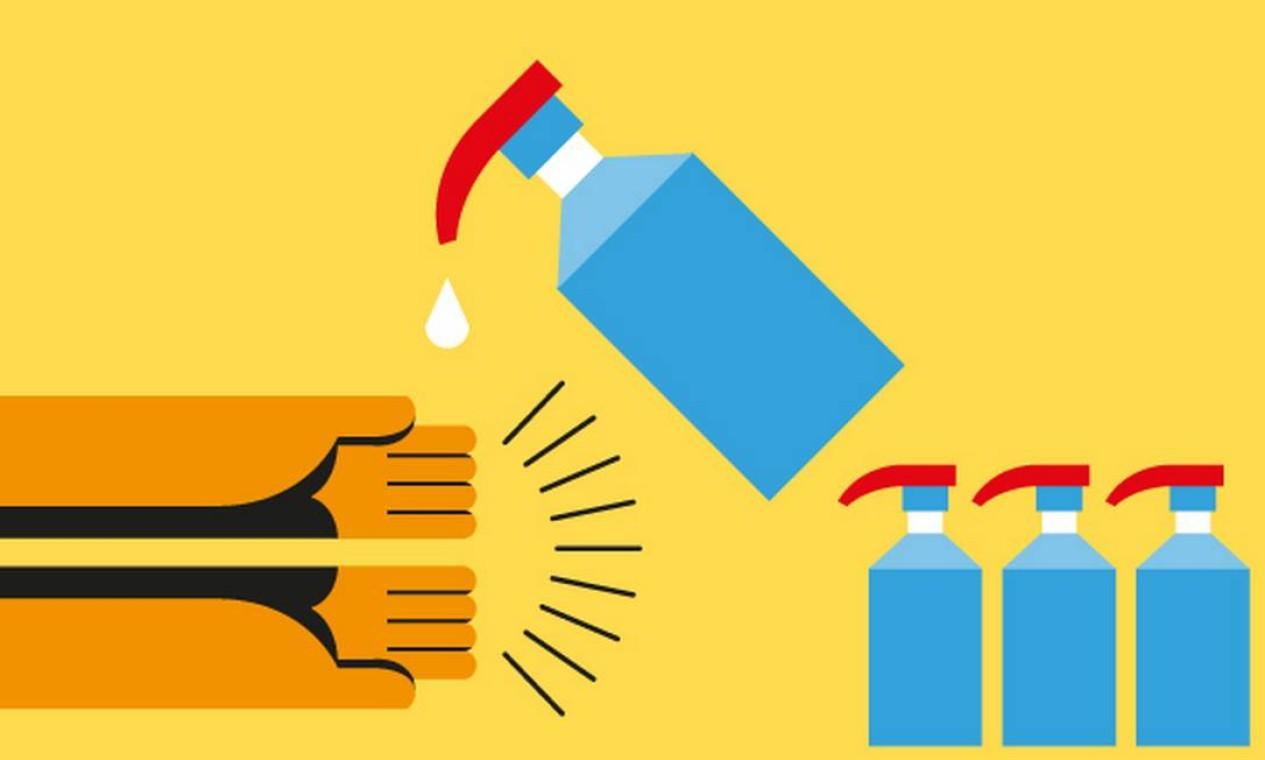 Higiene das mãos. A não oferta de álcool gel nos estabelecimentos é uma reclamação frequente ao Procon-RJ Foto: Renato Carvalho