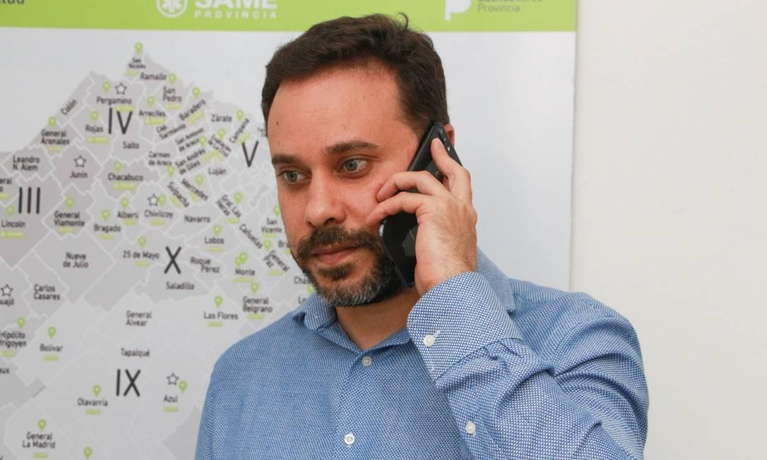 O epidemiologista brasileiro Enio Garcia, que comanda equipe responsável pela estratégia da província de Buenos Aires contra a Covid Foto: . / Divulgação