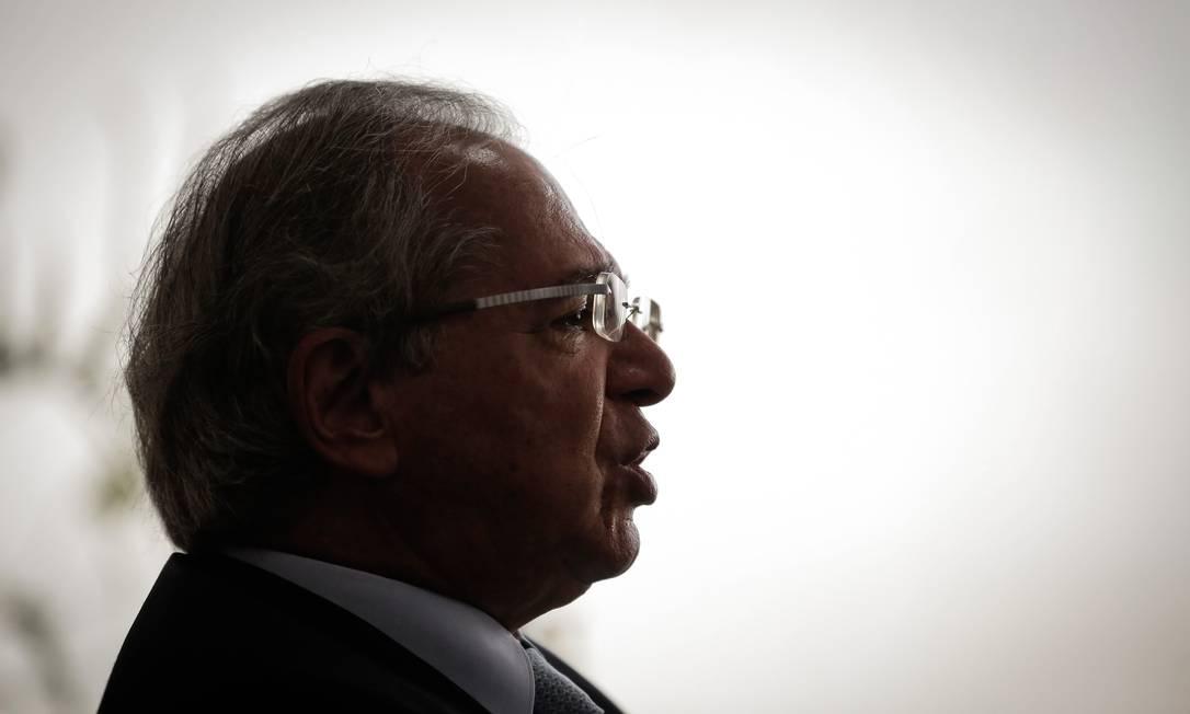 """O ministro da Economia, Paulo Guedes: """"Nós podemos ser derrotados, mandados embora, aniquilados, vencidos. Mas não tem rendição"""" Foto: Pablo Jacob / Agência O Globo"""