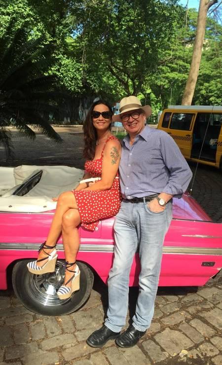 Luiza e Lírio Parisotto, ex-companheiro que a agrediu cinco anos atrás Foto: Arquivo Pessoal
