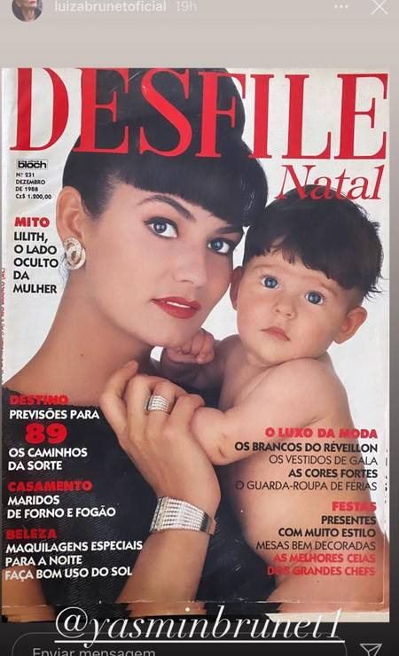 Luiza Brunet com a filha Yasmin Foto: Reprodução/Instagram