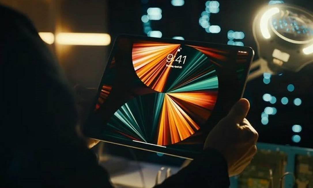 Assim como a nova versão do iMac, O iPad Pro também conta com um processador M1. Foto: Divulgação