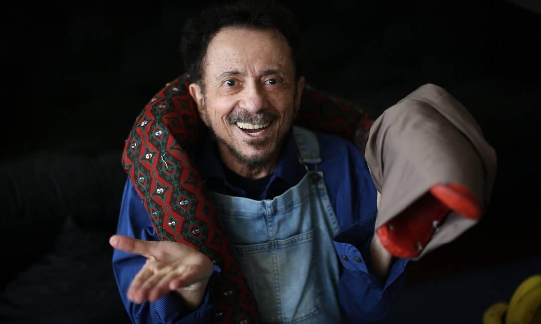 O cantor e compositor Tom Zé é uma das atrações virtuais da programação Foto: Marcos Alves / Agência O Globo