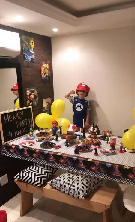 Henry em sua última festa de aniversário: pai compartilhou foto nas redes sociais no dia em que o menino faria 5 anos Foto: Arquivo pessoal