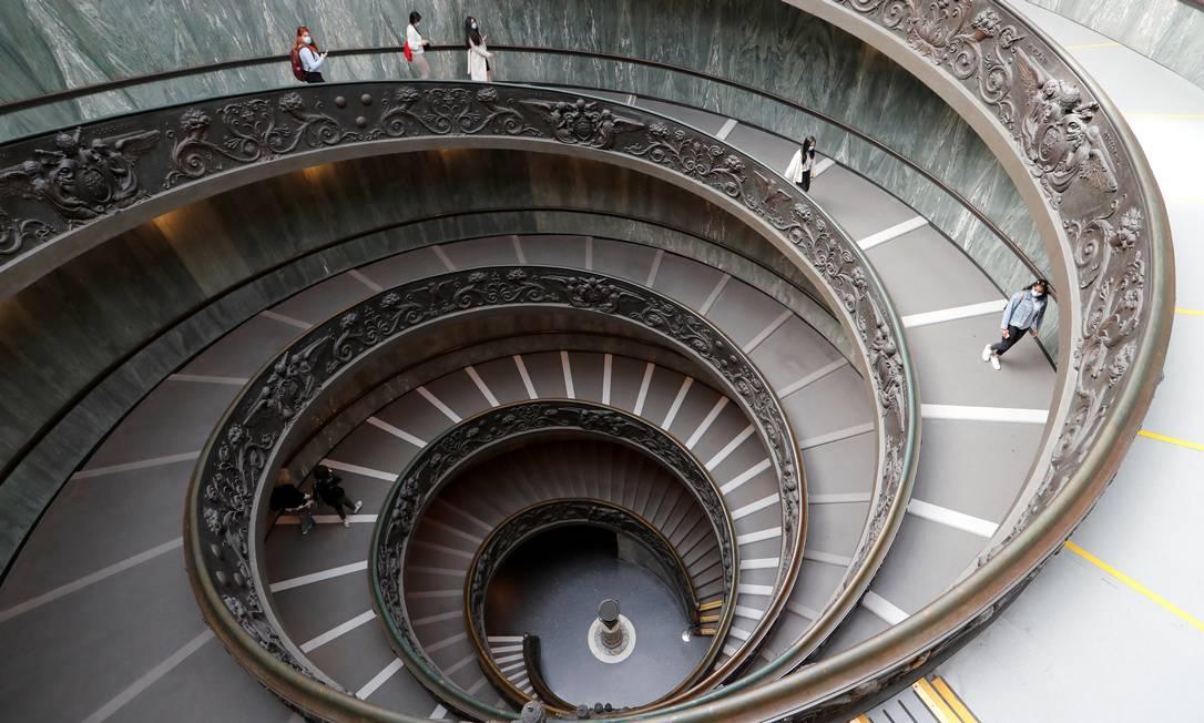 Museus do Vaticano estavam fechados desde 15 de março por causa da pandemia Foto: REMO CASILLI / REUTERS