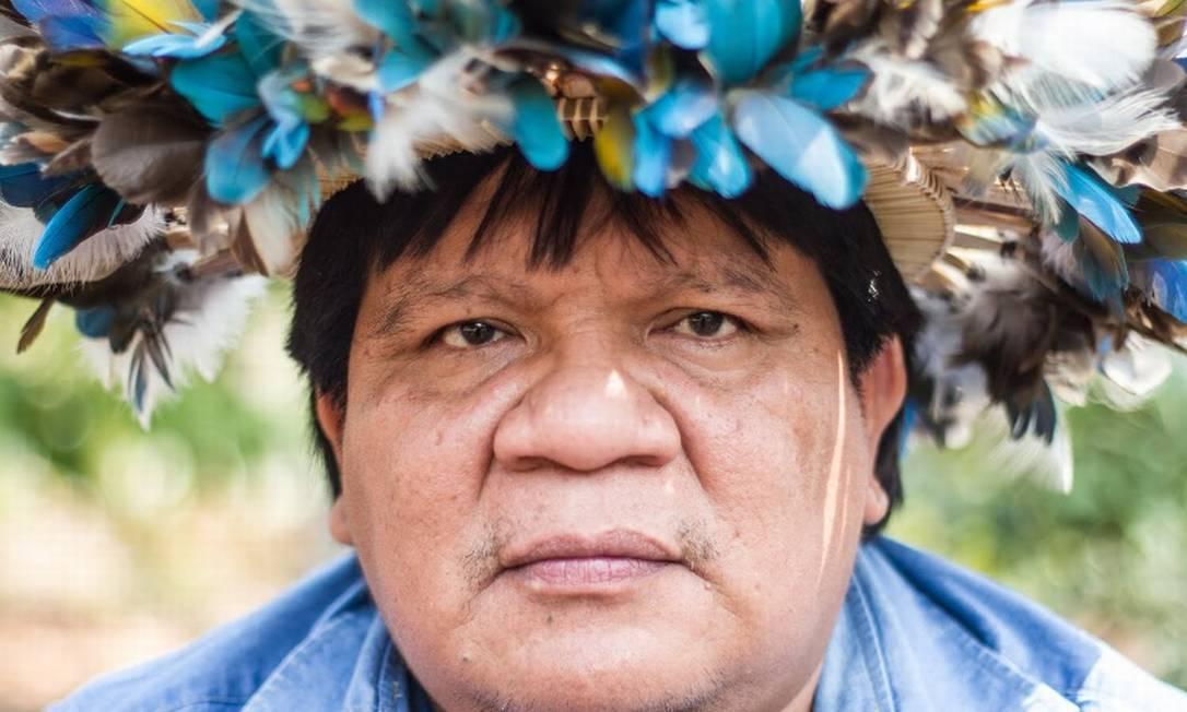 Almir Suruí, liderança indígena de Rondônia Foto: Gabriel Uchida/ Kanindé