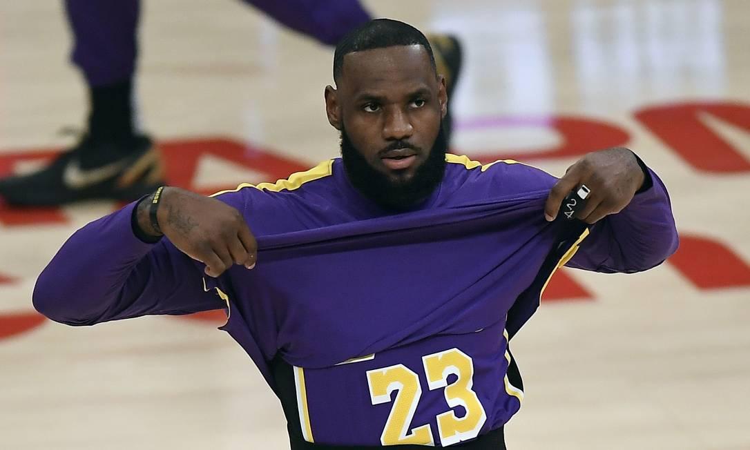 LebronJames, jogador do Los Angeles Lakers Foto: KEVORK DJANSEZIAN / AFP