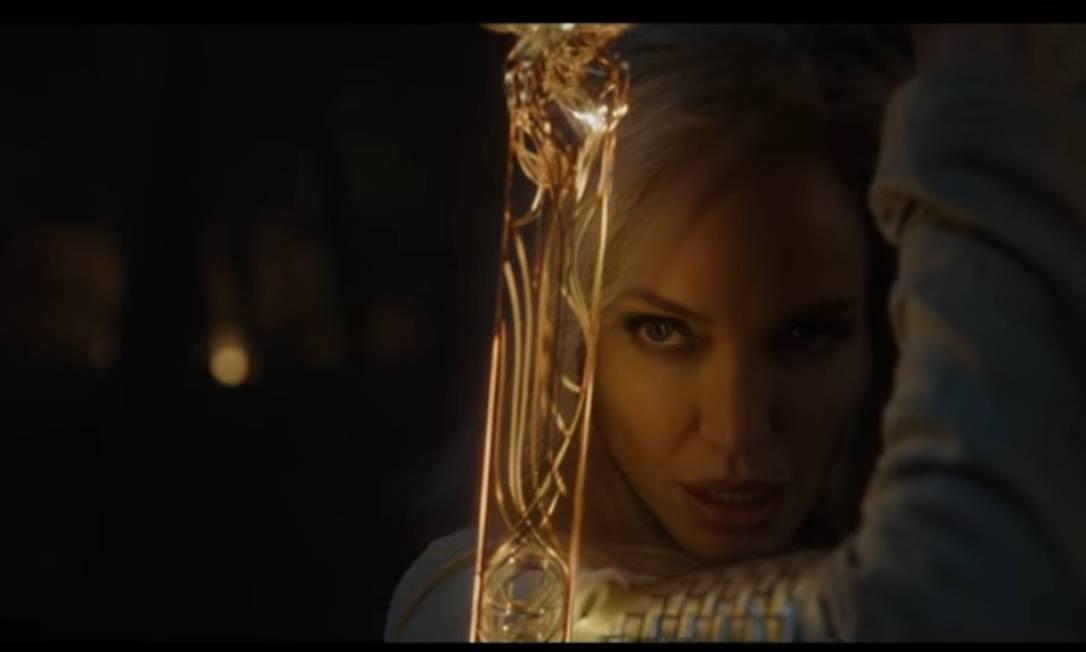 """Angelina Jolie em """"Os Eternos"""" Foto: Divulgação"""