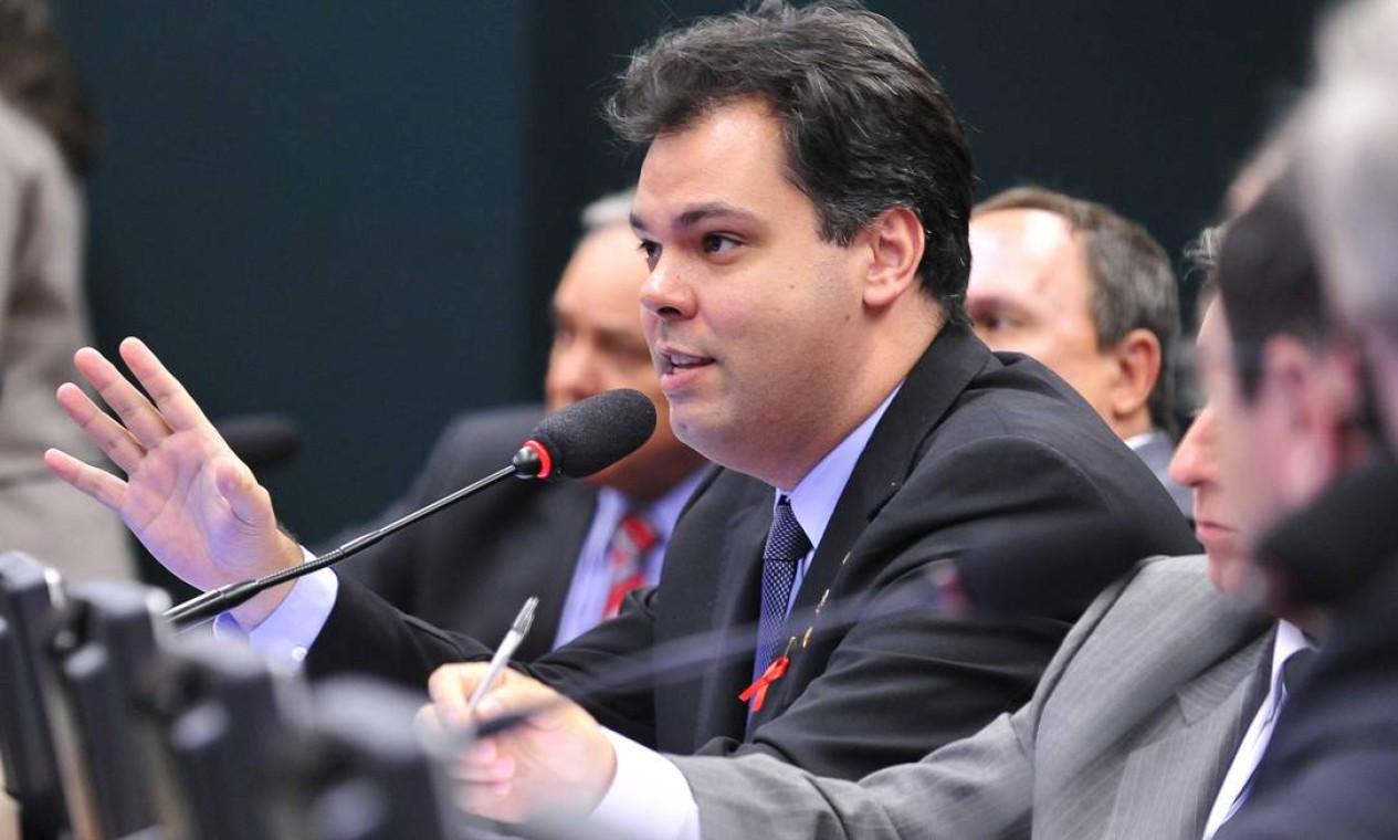 Bruno Covas, então deputado federal, em 2015, na CPI da Petrobras, da qual foi sub-relator Foto: Gabriela Korossy / Câmara dos Deputados - 05/03/2015