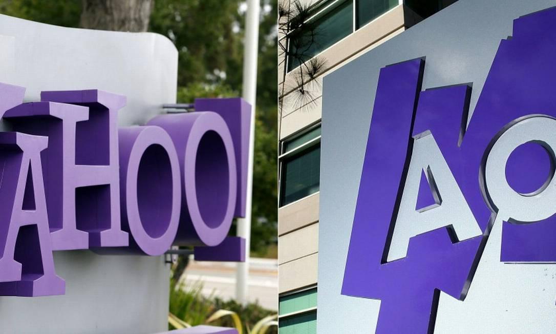 A Verizon anunciou que estava vendendo as já enfraquecidas estrelas da internet Yahoo e AOL para a Appolo por US $ 5 bilhões, acabando com as ambições de mídia da gigante das telecomunicações. Foto: JUSTIN SULLIVAN / AFP