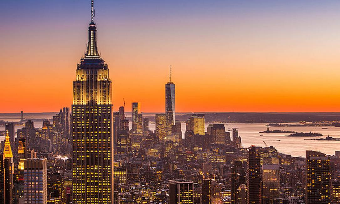 O Empire State visto do Rockefeller Plaza Foto: CC