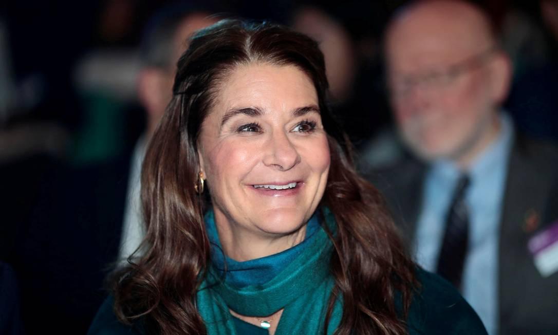 A filantropa Melinda Gates durante uma conferência internacional sobre saúde em países em desenvolvimento, em Oslo, na Noruega Foto: NTB SCANPIX / REUTERS - 6/11/2018