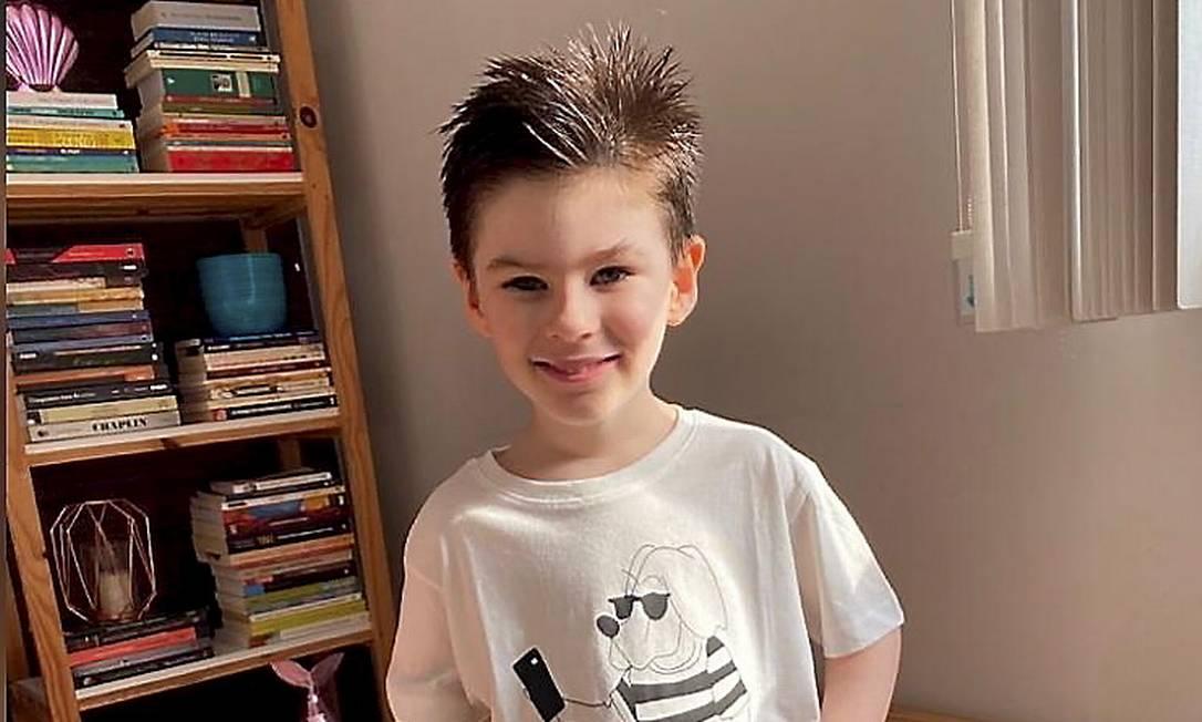 O menino Henry Borel Medeiros, de 4 anos: vítima de agressões Foto: Reprodução/Agência O Globo