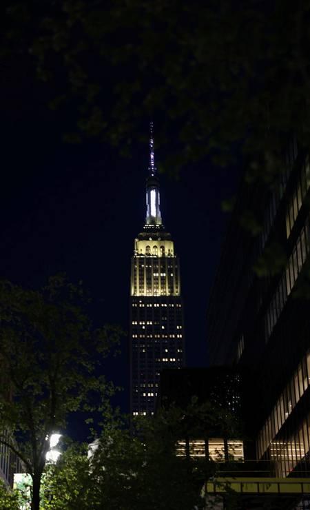 Iluminação especial para celebrar os 90 anos do Empire State Foto: CAITLIN OCHS / REUTERS