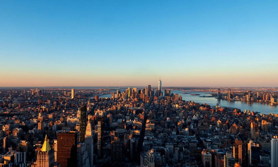 Iluminação especial para celebrar os 90 anos do Empire State Foto: ANGELA WEISS / AFP
