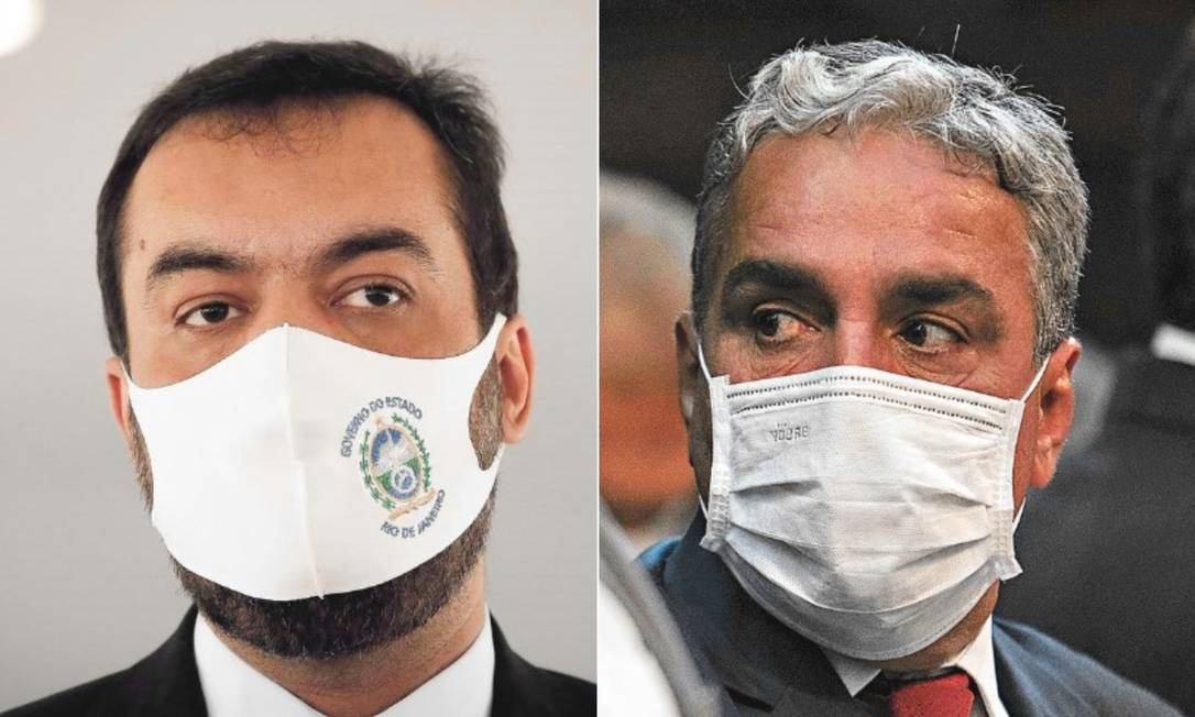 Cláudio Castro e André Ceciliano Foto: Agência O Globo
